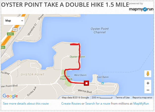 Oyster Point Double Hike 1.5 Mile Leg