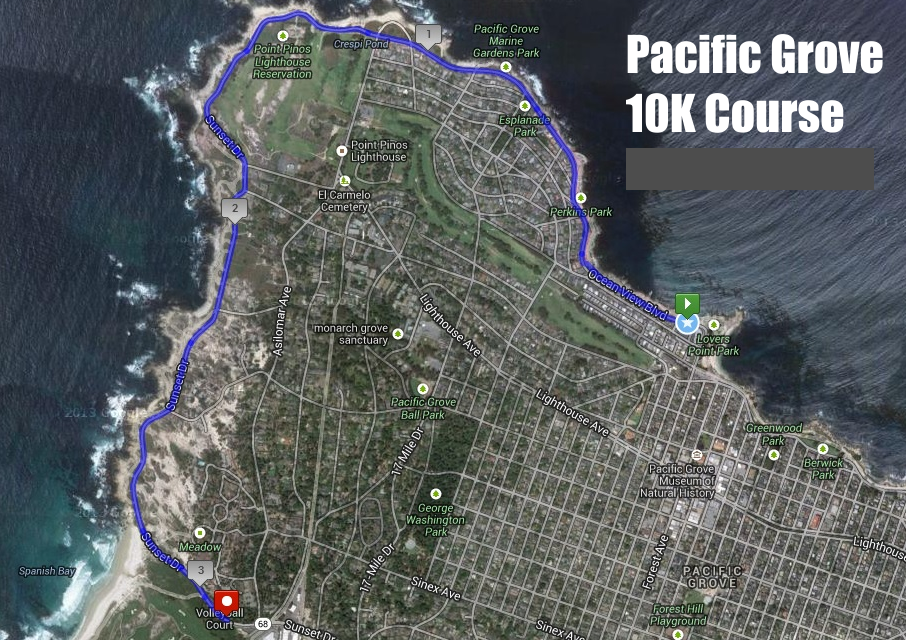 Pacific Grove 10K Course