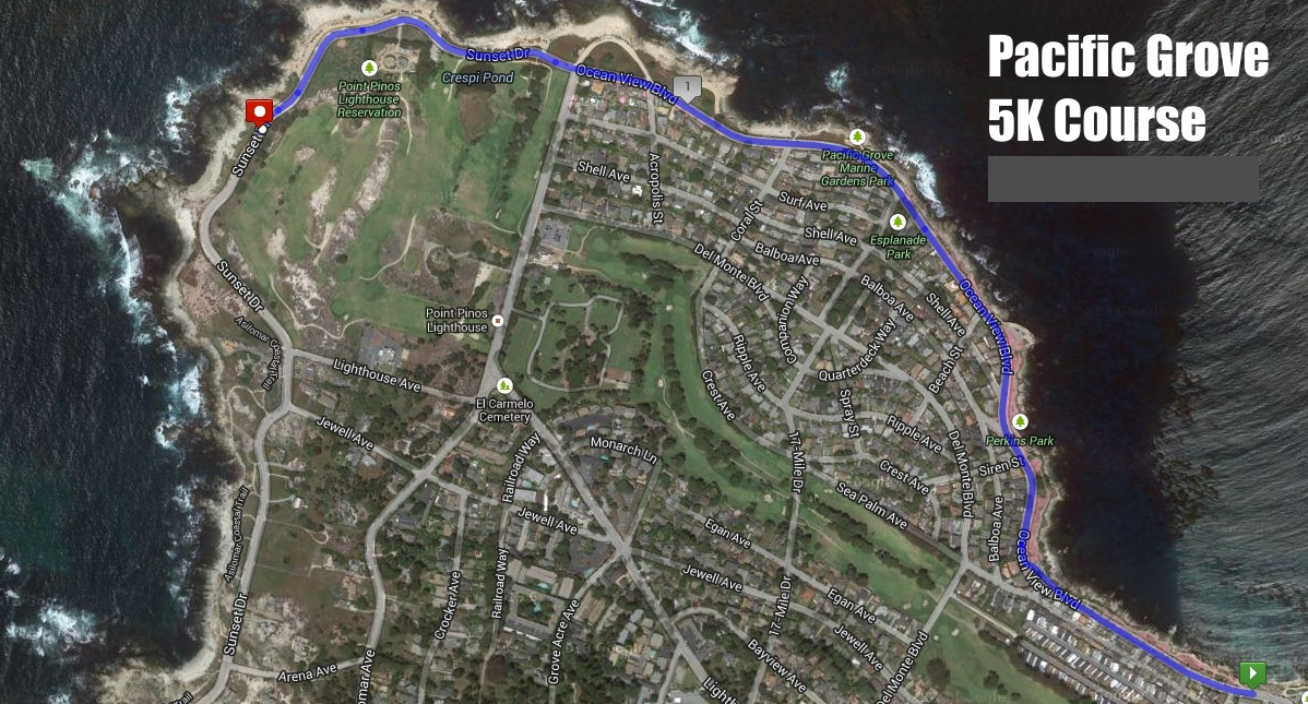 Pacific Grove 5K Course