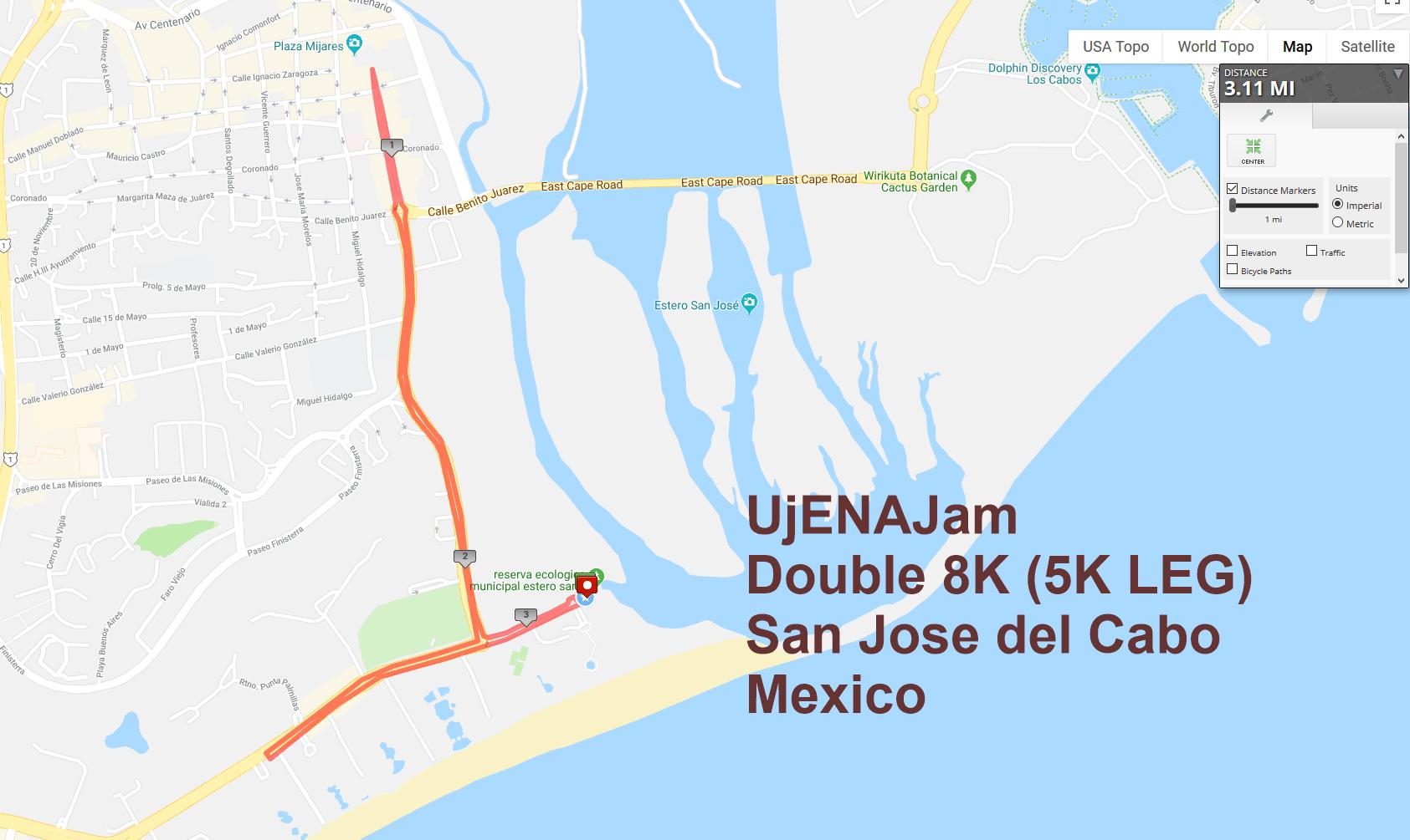 Cabo Double 8K 5K Leg